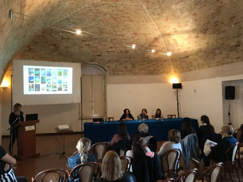 Da sinistra a destra: Sandra Lonchamp, Adele Vieri Castellano, Giulia Beyman e Sarah Mathilde Callaway